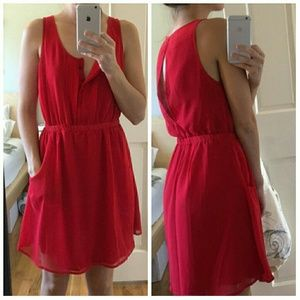 Urban Outfitters Red Dress With Pockets Medium